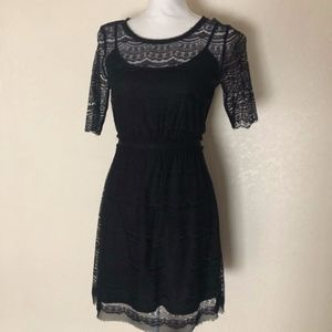 Max & Cleo Lace Black Dress